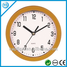 6 inch wall PU leather clock