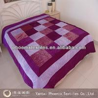86*86 luxury patchwork and printed velvet bedspread