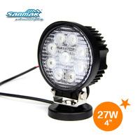 Hot Round Shape 27W LED Work Light For Off road,marine,mining