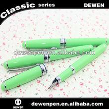 China fountain pen factory supply green metal pen black ink