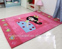 handmade princess design children rugs,babycarpet , kids rugs