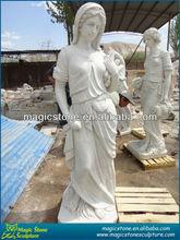 marble ancient roman gods statues