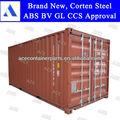 nuevo 20ft contenedores iso de stock en todos los puertos chinos