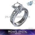 Plata 925/nuevos productos/grande anillo de cristal hecho con el chino 3a circón