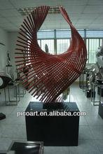 2015 new design large metal garden sculptures for sale