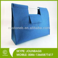 Plastic handled Polyester or Wool Felt shopping bag Felt Handbag