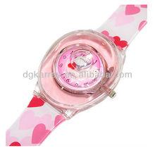 Fashionable colorful women quartz watches