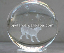 elegant round K9 Crystal glass 3d laser engraved ball Constellations zodic sign dog terrarium for Decoration globle ball