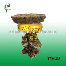 decorative owl solar garden light with welcome resin solar