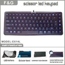 slim and compact design scissor keys led laptop keyboard