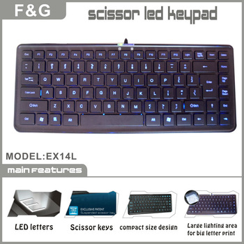 slim and compact design scissor keys led laptop keyboard
