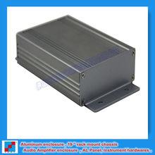Amp aluminum extrution enclosure / housing / shell / box with wall mount 82.8x28.8x117 mm /3.26''x1.13'' x 4.6 ''(wxhxl)
