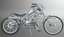 24 inch cool orange color 50cc gasoline motorized bicycle kit gas engine