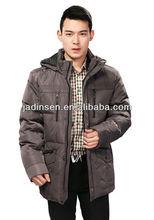 fashionable long men's down garment/padding coat