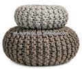 Knit bead filled corpo travesseiro
