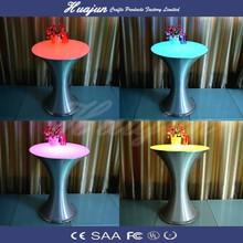 wireless outdoor bar table/ illuminated plastic furniture