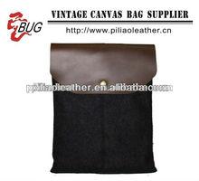 2013 wool felt case for IPAD/leather trim case for IPAD/handmade felt case
