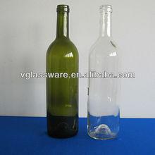 312mm height bordeaux shape wine bottles 750ml