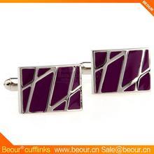 Novelty Purple Paint Square Cufflinks ZB0596 - cufflinks supplier,mens cufflinks 2012