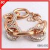Factory wholesale 2014 prave link bracelet with rhinestones