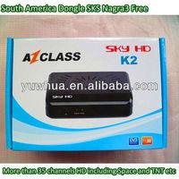 AZCLASS SKY HD K2 Nagra 3 free dongle compliant with azbox newgen