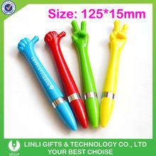 Finger shape plastic ball pen
