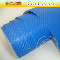 OEM carbon fiber film blue without air free bubble 0.14mm 12kg vinyl 1.27X30M Decorate your car to attend Auto show