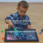 2013 new innovative products waterproof erasable kids led writing board