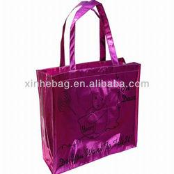 glossy metallic lamination non woven bag