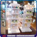 de alta calidad elegante centro comercial de cosméticos de madera de diseño del quiosco