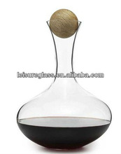 wine glass decanter with wooden top