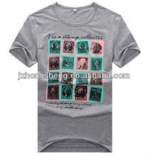 2013 new design mens t-shirt korean fashion lycra shirt printing t-shirt