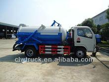 Dongfeng 4 x 2 3cbm Bolvia vácuo caminhão de sucção de esgoto