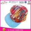 Line fabric snapabck customized flat brim 5 panel hat