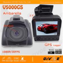 V5000GS Best Night Vision GPS Full HD Car Video Registrator