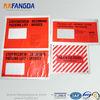 polypropylene film adhesive packing list envelope document enclosed