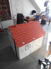 Diy Brown Cardboard Playhouse