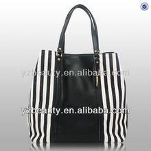 Simple design black & white stripe linen favor bags