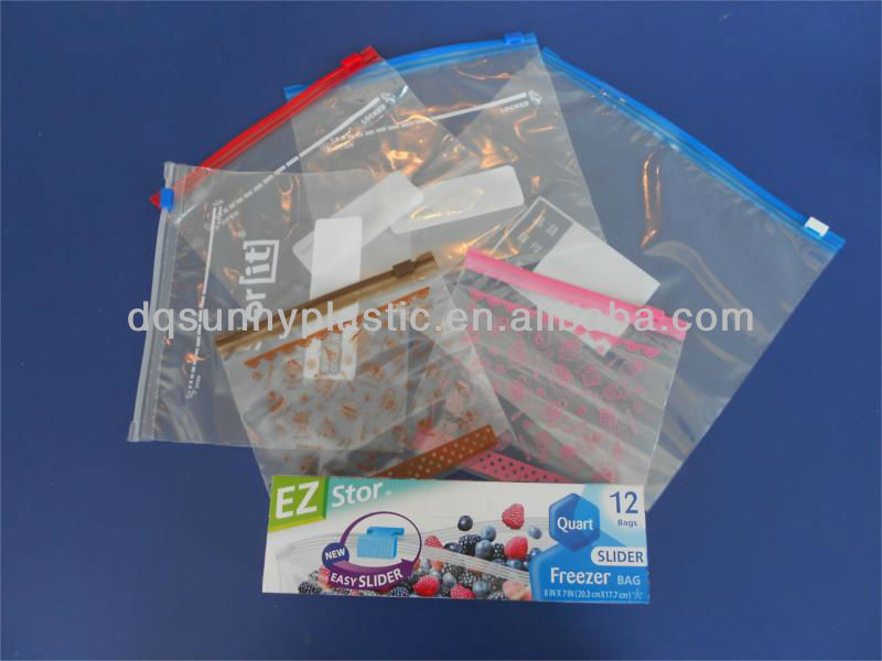 Quart Slider Bags plastic bag with slider