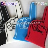 2015 promotion gifts cheap custom foam finger, foam hand, cheer hand