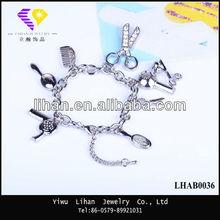 Top Design Custom Zinc Alloy Charm Bracelet 2013,Bracelets Bangles