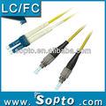 De fibra óptica fc a lc/sc/conectores st om3 parche cable