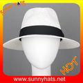 2014 verão malha ventilada 100% papel palha panama safari chapéu branco