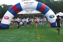 Outdoor inflatable event arch