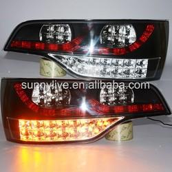 2006-2014 Year Q7 LED Taillights For Audi Q7 LED Rear Lights Black Housing SN