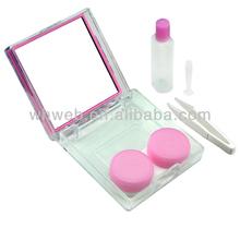 designer cotact lens case/cheap contact lens case for Web soft lens/ pink