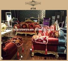 European classical solid wood hotel sofa 1+2+3 819#