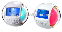 LED glowing alarm clock radio/ radio with alarm clock