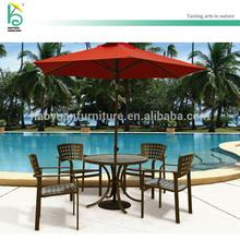 outdoor furniture in diecasting aluminum round table set