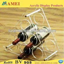 pop acrylic wine bottle display rack /acrylic